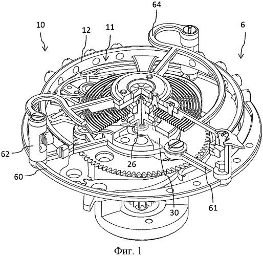 Турбийон часового механизма и часы