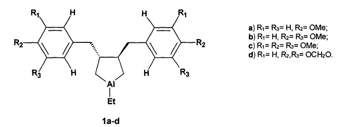 Способ получения рацемических 1-этил-3,4-бис[(оксифенил)метил]алюминациклопентанов