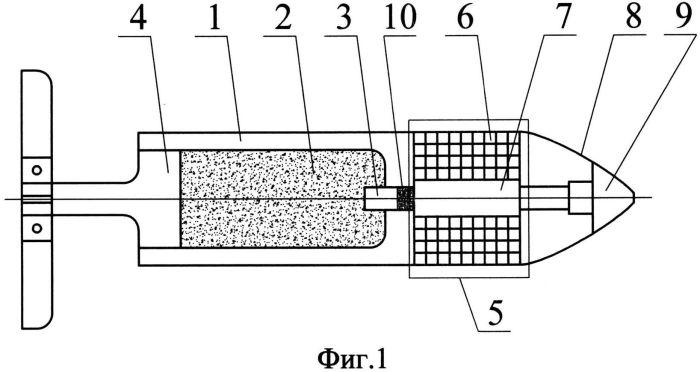 Способ обеспечения заданного дробления осколочного блока осколочно-пучкового снаряда