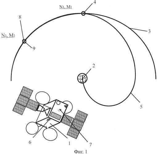 Способ удаления с геостационарной орбиты нефункционирующего космического аппарата