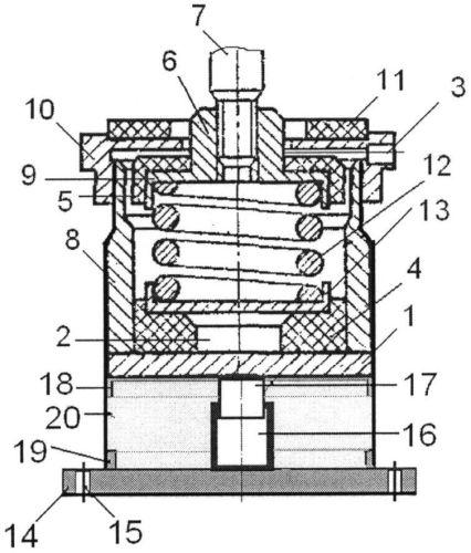 Виброизолятор комбинированный с сетчатым демпфером