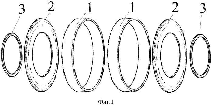 Резиновое слоистое изделие из использованных покрышек колес транспортных средств
