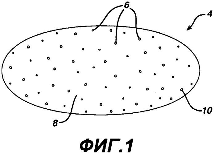 Брусок мыла, содержащий частицы гидрогелевой фазы