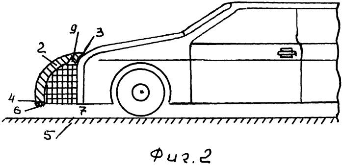 Устройство для отвода от автомобиля энергии встречного удара