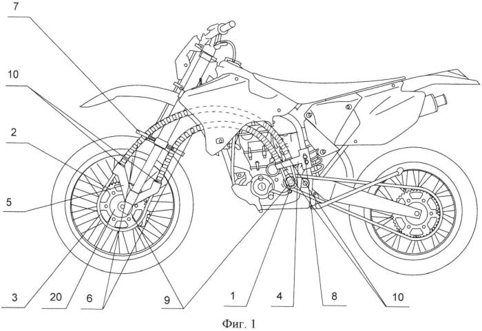 Привод переднего колеса мотоцикла