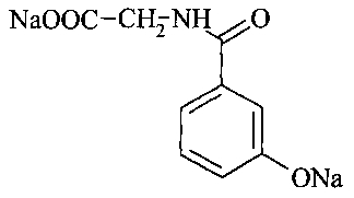Динатриевая соль 3-гидроксигиппуровой кислоты, обладающая антигипоксической и церебропротективной активностью