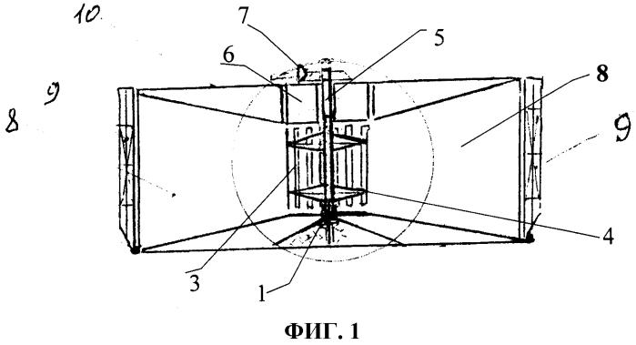 Ортогональная турбина с положительной плавучестью