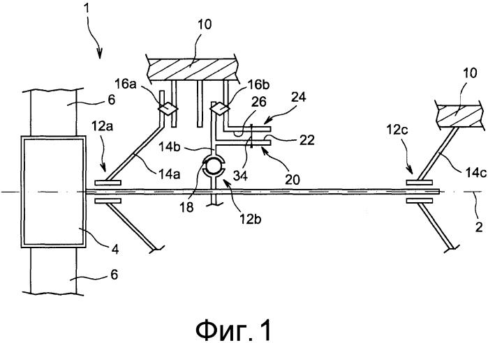 Подшипник качения для авиационного турбореактивного двигателя, оборудованный средствами осевого удержания своего наружного кольца