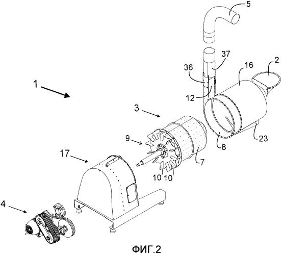 Центробежная машина для сушки гранулированных твердых материалов