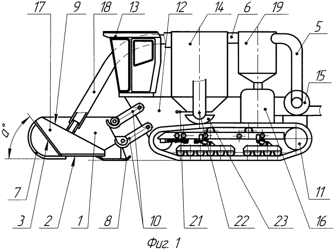 Комбайн самоходный рисозерноуборочный вакуумный на гусеничном ходу