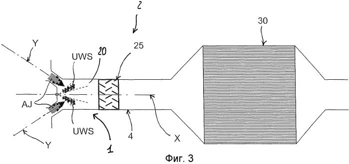 Дозирующий модуль для дозированного введения восстановителя на основе мочевины в поток выхлопных газов