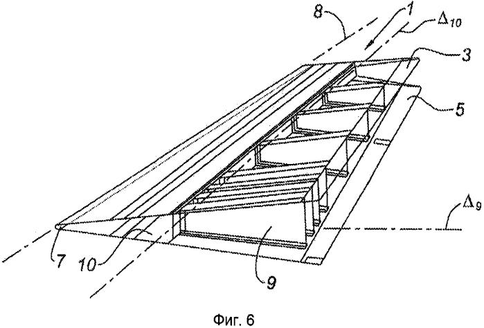 Композитная конструктивная панель задней кромки элемента летательного аппарата