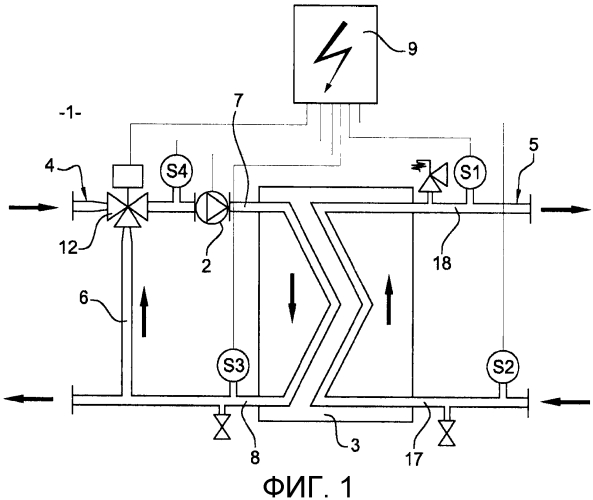 Способ управления насосом с переменной подачей, установленным в нагревательной системе