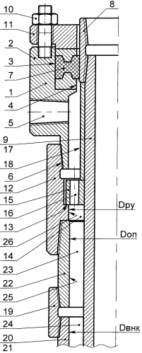 Устройство герметизации межколонного пространства на устье скважины