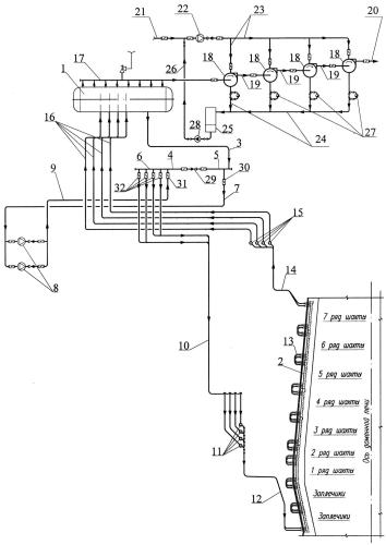 Система испарительного охлаждения металлургического агрегата