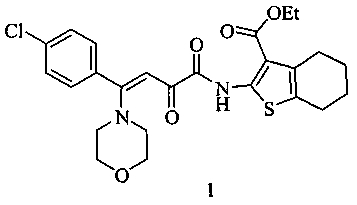 N-(3-этоксикарбонил-4,5,6,7-тетрагидробензо[b]тиен-2-ил)амид (z)-4-морфолино-2-оксо-4-(4-хлорфенил)бут-3-еновой кислоты, обладающий анальгетической активностью