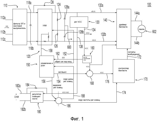 Схема электронного балласта