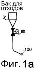 Способ и устройство в пневматической системе транспортировки материала и система транспортировки отходов