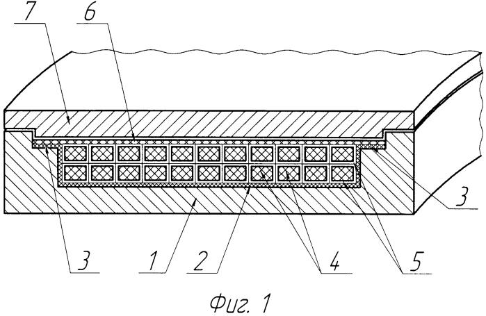 Способ изготовления звукопоглощающего устройства турбореактивного двигателя