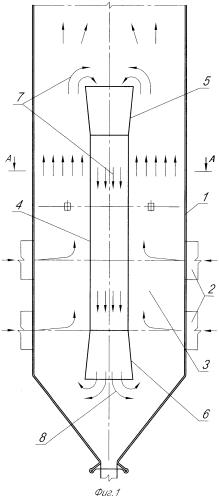 Способ сжигания топочных газов в вертикальной камерной топке и вертикальная камерная топка