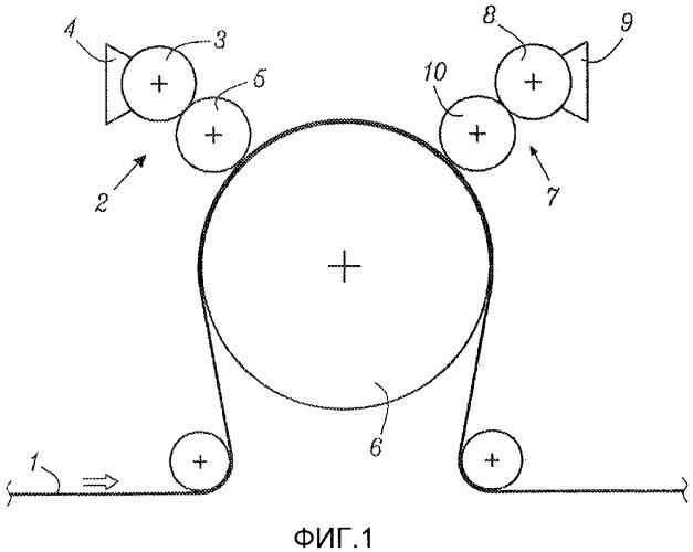 Способ нанесения суперабсорбентного полимера на волокнистый листовой материал и двух- или многослойный волокнистый материал, содержащий суперабсорбентный материал