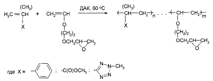 Способ получения тетразолсодержащих парных полимеров