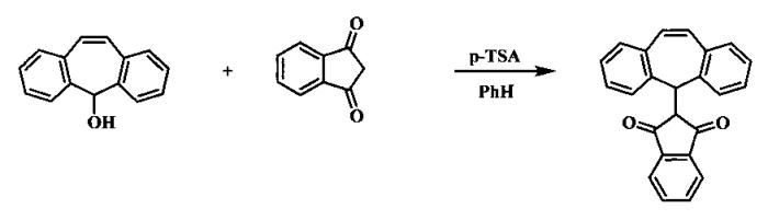 Способ получения 1,3-дикарбонильных соединений, содержащих дибензосуберенильный фрагмент