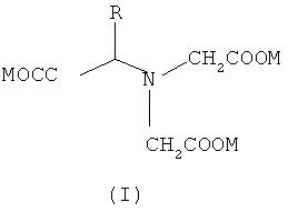 Твердое вещество, которое содержит глутаминовую кислоту-n,n-диуксусную кислоту (glda) или ее производное, а также способ его получения