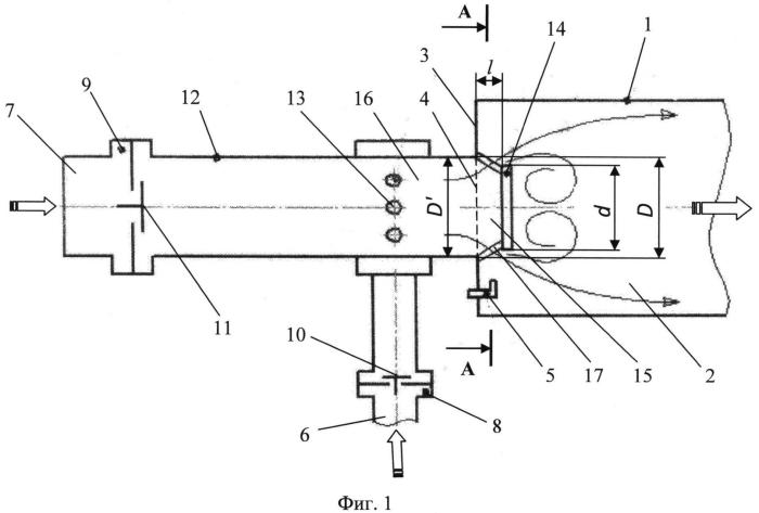 Клапанно-смесительное устройство котла пульсирующего горения
