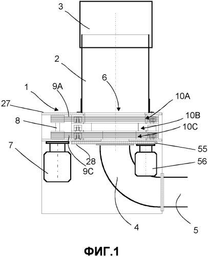Способ и устройство для обработки материала в пневматической трубопроводной системе транспортировки