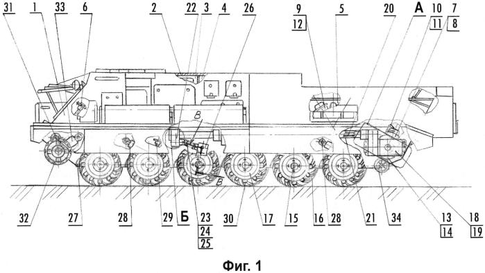 Универсальное шасси на единой платформе с колесными движителями