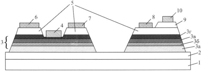 Многофункциональная свч монолитная интегральная схема на многослойной полупроводниковой структуре