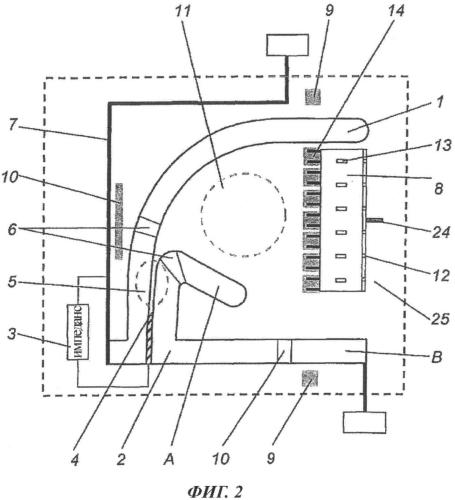 Роговой искровой разрядник с деионной камерой