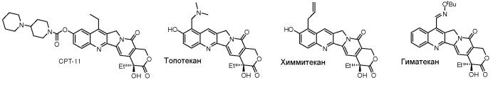 Производные камптотецина, обладающие противоопухолевой активностью