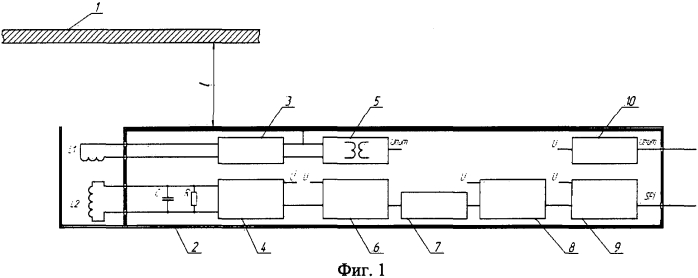 Измеритель расстояния между датчиком и объектом из электропроводящего материала