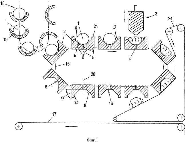 Способ и устройство для надрезания мелких изделий из теста