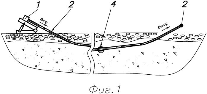 Способ установки защитных футляров в горизонтальной скважине под водными или иными преградами