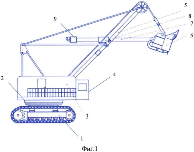 Экскаватор и механизм напора рукоятки экскаватора