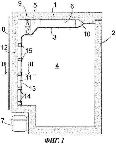 Холодильный аппарат с воздушным каналом