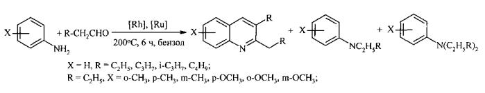 Способ получения замещенных хинолинов из анилина, 1,3-диолов и ccl4 под действием железосодержащих катализаторов