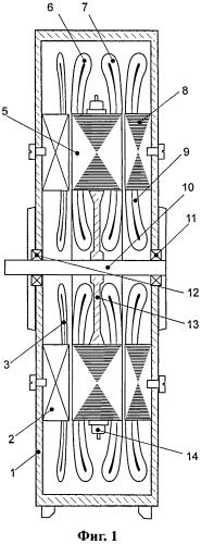 Аксиальный двухвходовый бесконтактный ветро-солнечный генератор