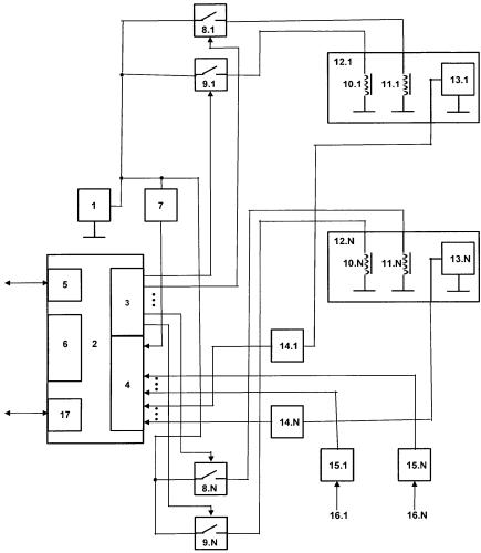 Способ управления группой электромагнитных механизмов, преимущественно запорных клапанов, и устройство для его реализации