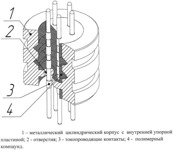 Кабельный ввод для герметичного прохода электрических цепей