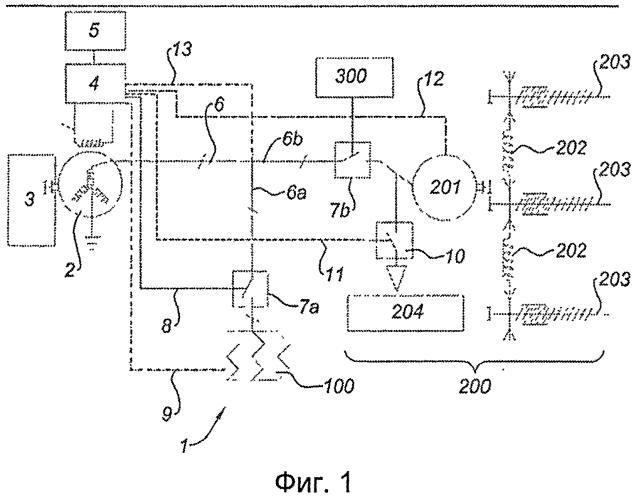 Схема электропитания для гондолы турбореактивного двигателя