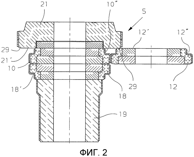 Огнеупорный блок для шиберного затвора в сливном отверстии емкости для металлического расплава