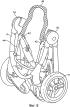 Узел рамы транспортного средства, способ блокировки узла рамы в поднятом положении, монтажное приспособление модуля для перевозки ребенка и способ его монтажа, способ преобразования узла рамы транспортного средства в поднятое положение