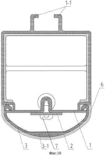 Светильник светодиодный и теплоотводящий профиль в качестве его корпуса