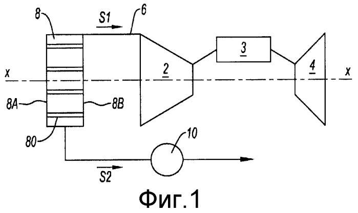 Устройство фильтрации воздуха на входе двигателя внутреннего сгорания со средством вентиляции