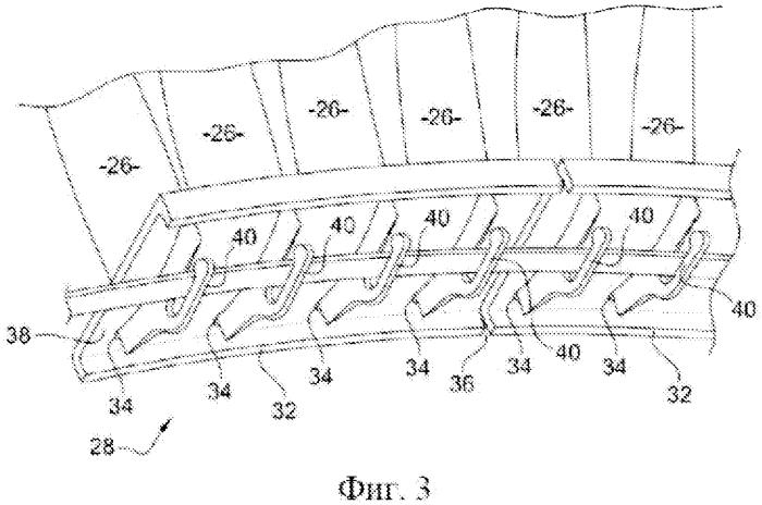 Статор компрессора осевой турбомашины и компрессор осевой турбомашины