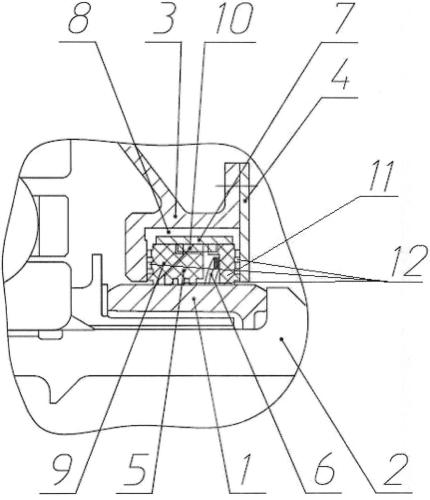 Контактное графитовое уплотнение ротора турбомашины